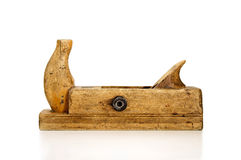 Old wooden jointer on a white background. Stock Photography