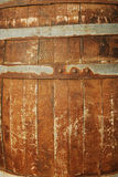 Old wooden keg. Old wooden barrel close-up, it is possible to use as a background Stock Photography