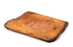 Old wooden kitchen board Stock Images