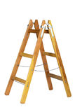 Old wooden ladder isolated Royalty Free Stock Photo