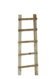 Old wooden ladder isolated on white Stock Images