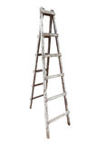 Old wooden ladder isolated on white background Royalty Free Stock Images