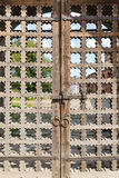 Old wooden lattice on the gates Royalty Free Stock Photography