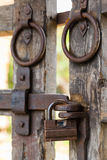 Old wooden lattice on the gates Royalty Free Stock Photos