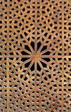 Old wooden latticework. Beautiful Motif design of an old wooden lattice window in Iran Royalty Free Stock Photo