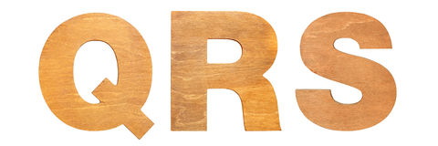 Old wooden letters QRS Royalty Free Stock Image