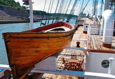 Old wooden lifeboat Stock Image
