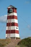 Old wooden lighthouse. An old wooden lighthouse in Denmark Royalty Free Stock Photo