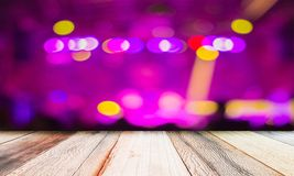 Old wooden and lights at night bokeh abstract background. Old wooden and lights at night bokeh for your text background stock image