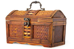 Old wooden little chest Stock Image