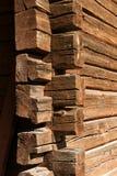 Old Wooden Log House Corner Stock Images