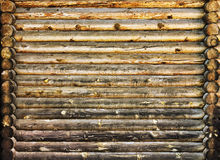 Log wall. Old wooden log texture background Royalty Free Stock Image