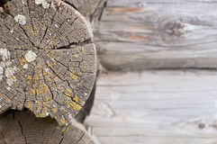 Old wooden log wall Stock Photos