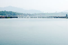 The old wooden Longest bridge in the world Royalty Free Stock Photo