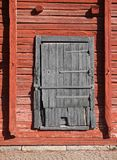 Old wooden magazine warehouse door. Old weathered wooden magazine warehouse door stock photos