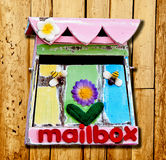The Old wooden of mailbox Stock Images