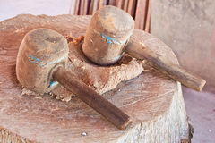 Old wooden mallet Royalty Free Stock Photo