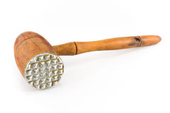 Old wooden meat tenderizer Stock Photos