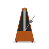 Old wooden metronome. Vector illustration Royalty Free Stock Images