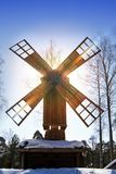Old wooden mill on the Finnish forest in winter.  Stock Photography