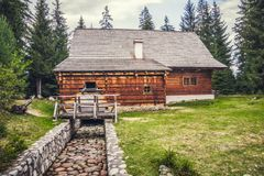 Old Wooden Mill royalty free stock photo