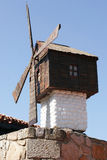 Old wooden mill in Nessebur Stock Photos