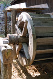 Old wooden mill wheel in Romania Royalty Free Stock Photo