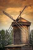 Old wooden mill Stock Photography