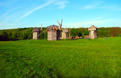 The old wooden mills. Royalty Free Stock Photos