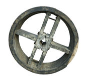 Old wooden mold for belt drive wheel Royalty Free Stock Photos