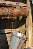 Old wooden moldavian water well Stock Photos