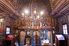 Old wooden monastery interior Saint Mary Royalty Free Stock Photography