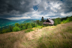Old Wooden Mountain Cottage Stock Photos