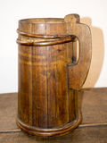 Old wooden mug Stock Photography