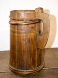 Old wooden mug Stock Photography