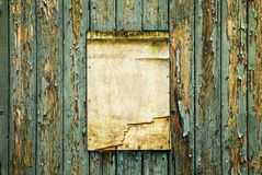 Old wooden notice board, add your text Royalty Free Stock Photo