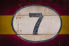 Old Wooden Number Signs Stock Photo