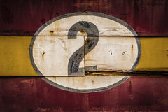 Old Wooden Number Signs Stock Photos