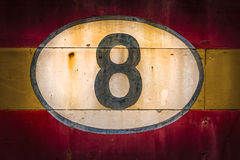 Old Wooden Number Signs Royalty Free Stock Photography