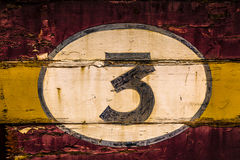 Old Wooden Number Signs Royalty Free Stock Image