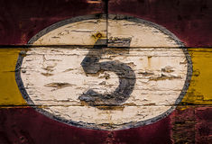 Old Wooden Number Signs Stock Image