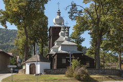 Old wooden orthodox catholic church, Uscie Gorlickie, Poland Stock Image