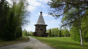 Old wooden Orthodox Church. In a forest Royalty Free Stock Images