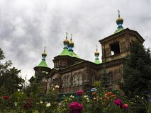 Old wooden orthodox church gold royalty free stock photos