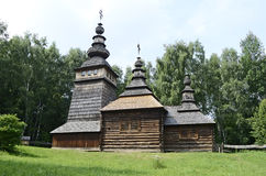 Old wooden orthodox church Royalty Free Stock Photos