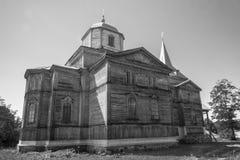 Pobirka - Orthodoxy church, Ukraine, Europe. Old wooden orthodoxy church in Pobirka village near Uman - Ukraine, Europe Royalty Free Stock Photo