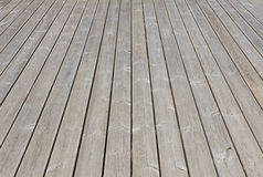 Old wooden outdoor terrace floor Stock Photos