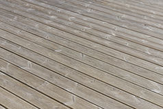 Old wooden outdoor terrace floor Stock Images