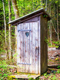 Old wooden outhouse Stock Image