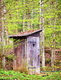 Old wooden outhouse Royalty Free Stock Photos